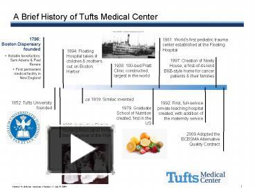 PPT – A Brief History of Tufts Medical Center PowerPoint