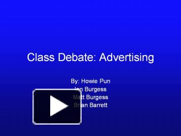 debate on advertisments Essays - largest database of quality sample essays and research papers on advertisements are misleading debate.
