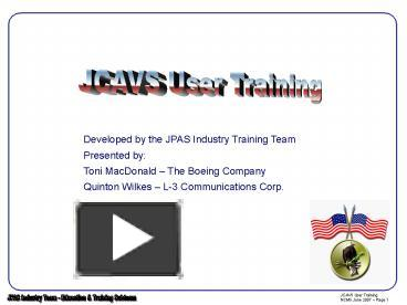 Marvelous PPT U2013 Developed By The JPAS Industry Training Team PowerPoint Presentation  | Free To View   Id: 23c3c2 ZDc1Z