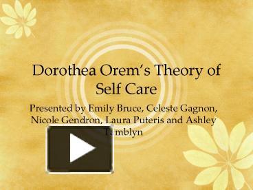 dorothea orem nursing