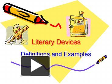 Ppt Literary Devices Powerpoint Presentation Free To Download