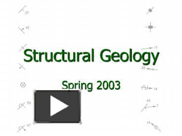 Ppt Structural Geology Powerpoint Presentation Free To
