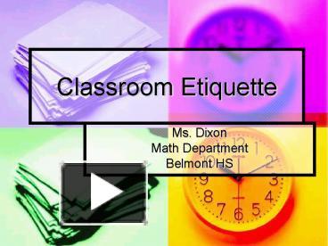 ppt � classroom etiquette powerpoint presentation free