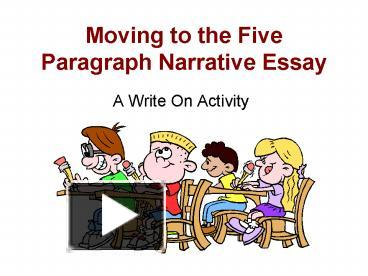 B>paragraph narrative essay powerpoint and for you Essay