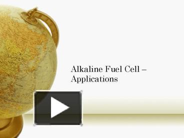 PPT – Alkaline Fuel Cell PowerPoint presentation | free to