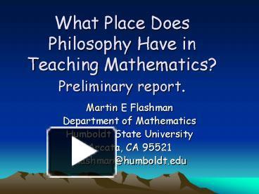 philosophy in teaching