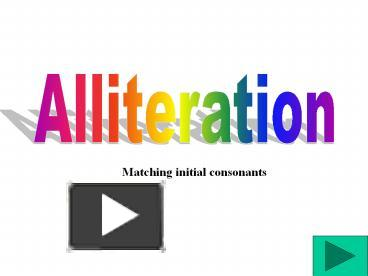 Synonyms and antonyms of alliteration in the English dictionary of synonyms