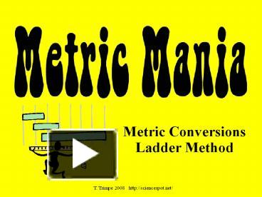 PPT - Metric Conversions Ladder Method PowerPoint ...