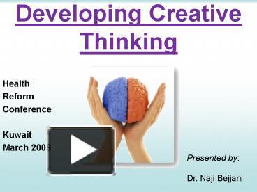 creative thinkers presntation