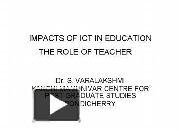 ppt impacts of ict in education powerpoint presentation free to