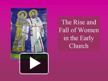 rise of the early church The rise of christianity: a sociologist reconsiders history stark examines other factors, such as paganism's weakness and the early church's social structure, which helped draw so many to the new faith chapter 9 -- opportunity and organization this chapter consists of two major parts.