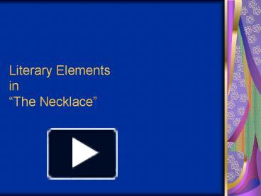 the necklace literary devices