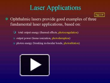Ppt laser applications powerpoint presentation free to download ppt laser applications powerpoint presentation free to download id 25ebb4 yjexn toneelgroepblik Choice Image