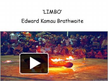 limbo by edward kamau brathwaite