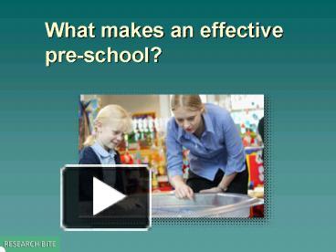what makes a teacher an effective