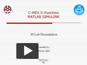 PPT – C-MEX S-Function PowerPoint presentation   free to