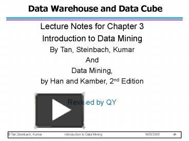 PPT – Data Warehouse and Data Cube PowerPoint presentation | free to