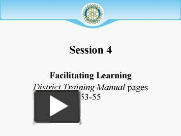 facilitate learning session