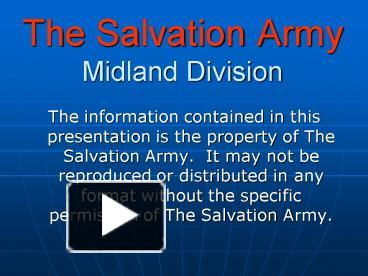 Ppt the salvation army midland division powerpoint presentation ppt the salvation army midland division powerpoint presentation free to view id 27f7a zwm2m toneelgroepblik Images