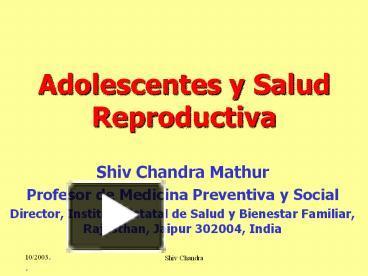 Adolescentes y salud reproductiva