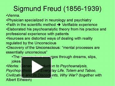 the early life and theories of australian physician and neurologist sigmund freud