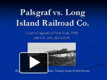 palsgraf v long island railroad co