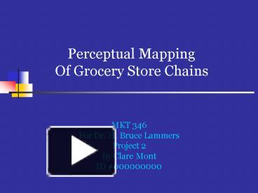 Ppt perceptual mapping of grocery store chains for Perceptual map template powerpoint