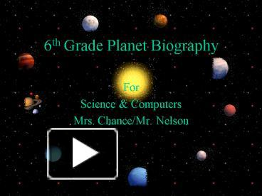 6th grade solar system powerpoints - photo #10