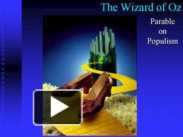Ppt The Wizard Of Oz Powerpoint Presentation Free To
