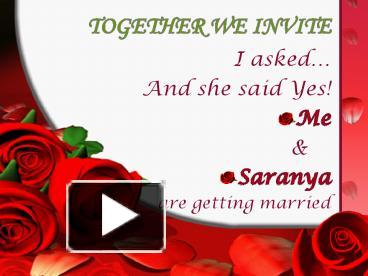 How to make wedding invitation in powerpoint matik for ppt wedding invitation powerpoint presentation free to download stopboris Choice Image