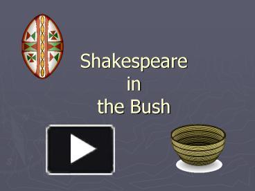 bohannan shakespeare in the bush