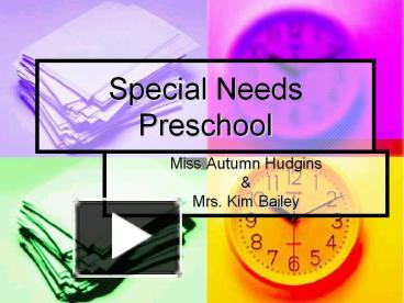 ppt special needs preschool powerpoint presentation free to view