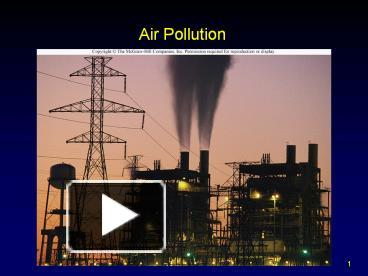 ppt  air pollution powerpoint presentation  free to download, Templates