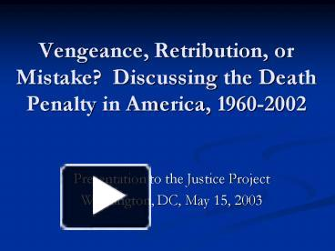a discussion on the employment of death penalty as a national law as a step towards a perfect justic A discussion on the employment of death penalty as a national law as a step towards a perfect justice system pages 9 words 2,686 view full essay.