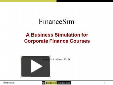 report on course the business simulation