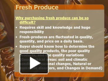 PPT – Fresh Produce PowerPoint presentation   free to view