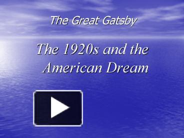 ppt the great gatsby powerpoint presentation free to. Black Bedroom Furniture Sets. Home Design Ideas