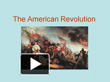 what really caused the american revolution