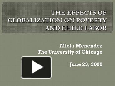 globalization effect on poverty