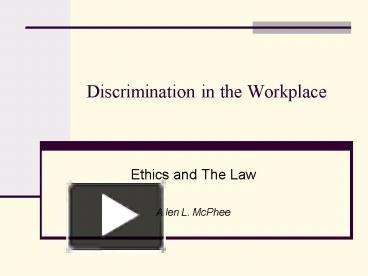 discrimination of women in the workplace essay Formal and informal discrimination against women at work when asked to think about a hostile environment for women in the workplace.