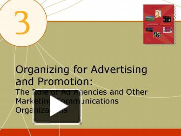 organizing for advertising and promotion role