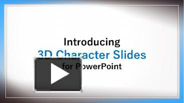 PPT – CrystalGraphics 3D Character Slides for PowerPoint
