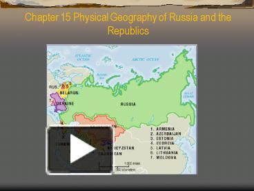 chapter 15 geography 1