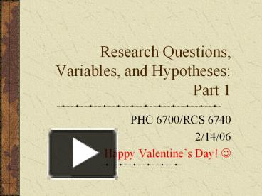 variables of a research paper