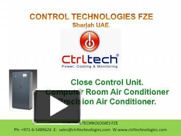 PPT – Close Control Unit  Precision Air Conditioner  Computer room
