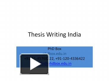 phd finance thesis india