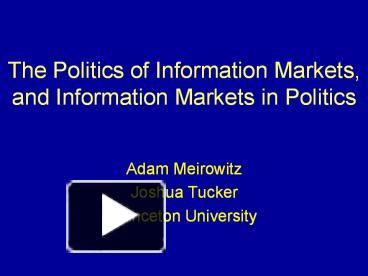 the geopolitics of information