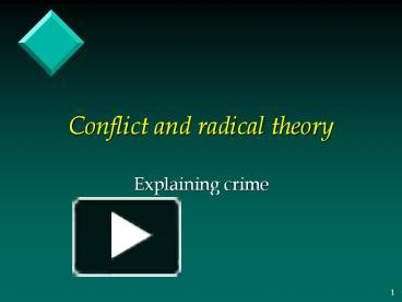 radical theories on crime Radical theory: radical theories tend to view criminal law as an instrument by which the powerful and affluent coerce the poor into patterns of.