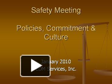 safety meeting policy