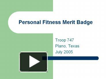 personal fitness merit badge